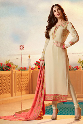 Fiona Sonal Chauhan Faux Georgette Heavy Duppatta Suit 21953