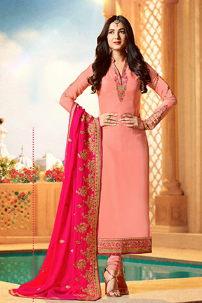 Fiona Sonal Chauhan Faux Georgette Heavy Duppatta Suits 21951