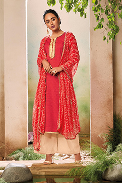 Ganga Full of Grace Cotton Print Embroidery Salwar Kameez 5543