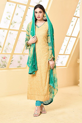Your Choice Dinnar Vol 19 Pure Chiffon Top Embroidery 2873