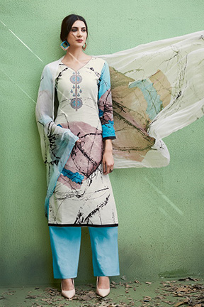 Elite Sanna Pure Air Zet Lilan Cottan With Embroidery Suits 9310