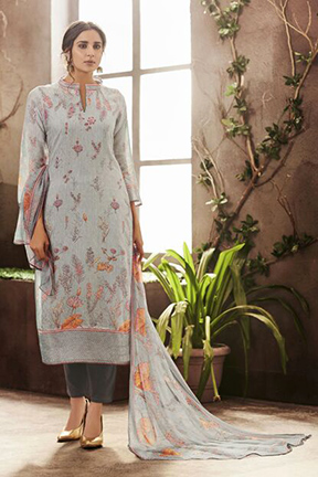 Haya Evana Designer Pure Cotton Silk Suits 6509