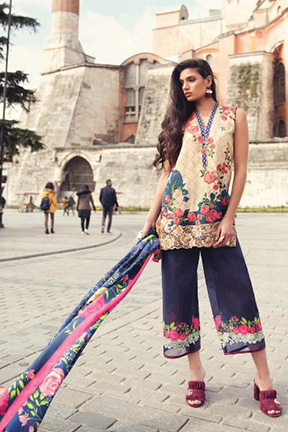 Samaira Fashion Mina Hasan Cotton Suits 607