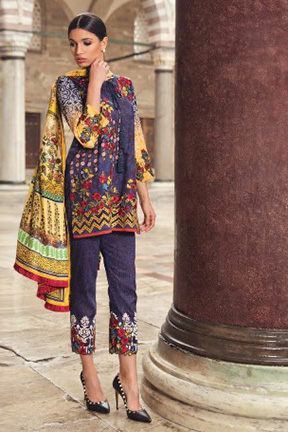 Samaira Fashion Mina Hasan Cotton Suits 608
