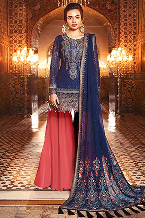 Shree Fab Mbroidered Maria B Vol 4 With Semi Stitched Salwar Suits 1132
