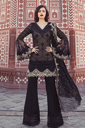 Shree Fab Mbroidered Maria B Vol 4 With Semi Stitched Salwar Suits 1137