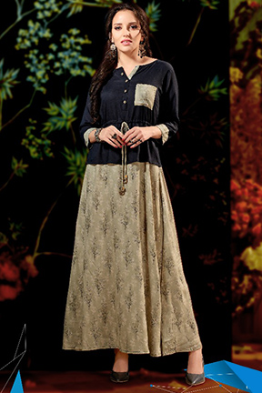 Belliza Vitara Long Gown Party Wear Kurtis 1005
