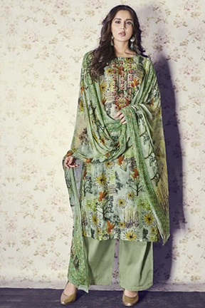 Jay Vijay Shai Garnet Cotton Salwar Suits 1561