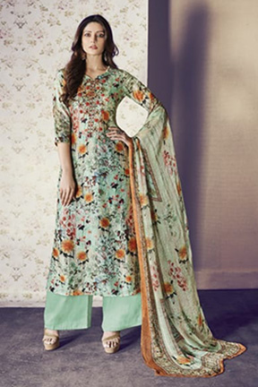 Jay Vijay Shai Garnet Cotton Salwar Suits 1563