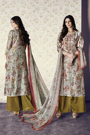 Jay Vijay Shai Garnet Cotton Salwar Suits 1564