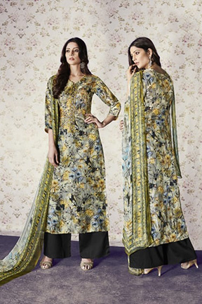 Jay Vijay Shai Garnet Cotton Salwar Suits 1566