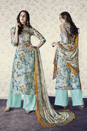 Jay Vijay Shai Garnet Cotton Salwar Suits 1567