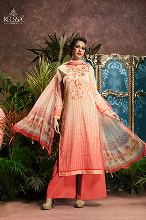Aryan By Relssa Fabrics Cotton Satin Designer Suit 1906