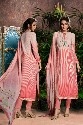 Aryan By Relssa Fabrics Cotton Satin Designer Suit 1902