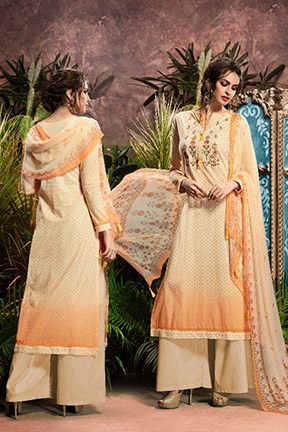 Aryan By Relssa Fabrics Cotton Satin Designer Suit 1903