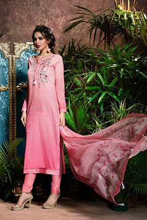 Aryan By Relssa Fabrics Cotton Satin Designer Suit 1904