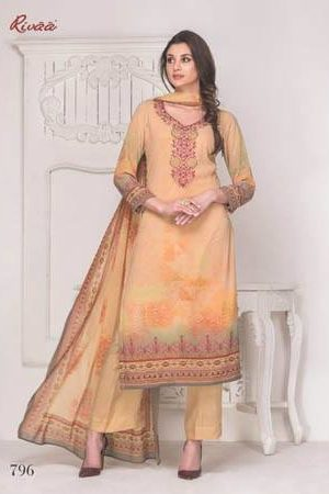 Buy Rivaa Mallika Georgette Digital Print with Embroidery Suit 796