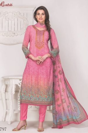 Buy Rivaa Mallika Georgette Digital Print with Embroidery Suits 797