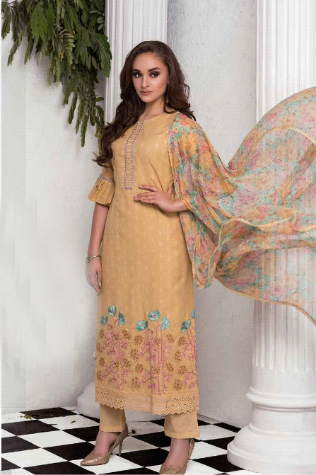 Naariti Cashblanca Butta Jacquard With Embroidery Designer Suit 2203 A