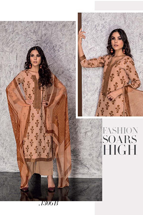Tacfab Shireen Cotton Salwar Suit 1306 B