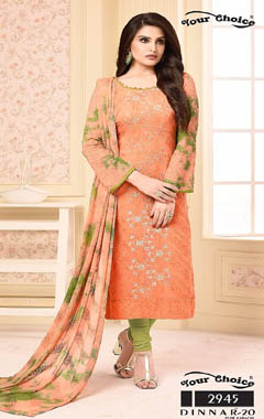 Your Choice Dinnar Vol 20 Pure Chiffon Salwar Suit 2945