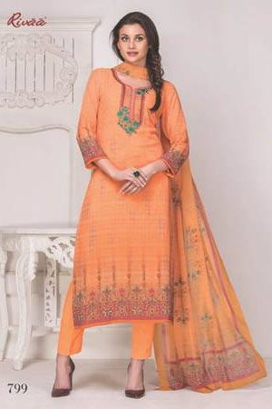 buy rivaa mallika georgette digital print with embroidery suits 799
