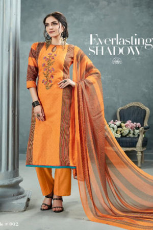 AT Zarqush VOL 54 Satin fabric Printed with Embroidery Suits 002