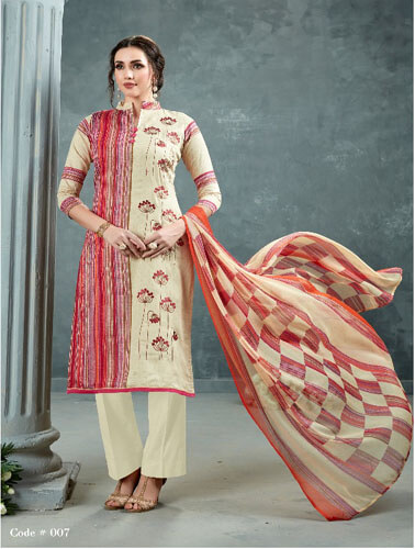 AT Zarqush VOL 54 Satin fabric Printed with Embroidery Suits 007