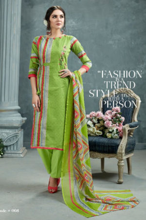 AT Zarqush VOL 54 Satin fabric Printed with Embroidery Suits 008
