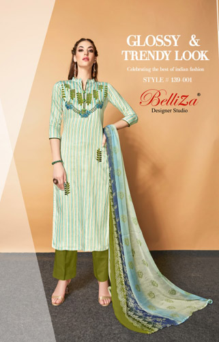 BelliZa Designer Studio Presents Adaa Salwar Suits 139-001