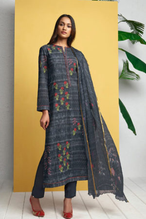 Buy Sahiba Itrana Ruhaniyat Linen Digital Printed with Hand Work suit 482