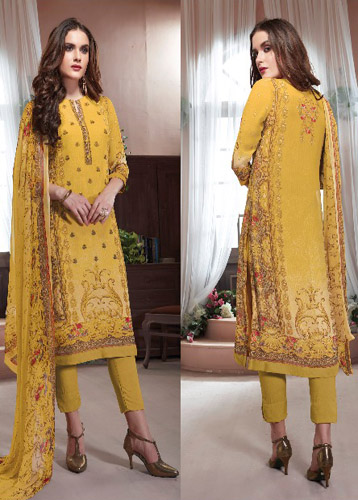 Esta Designs Neysa Digital Printed Georgette with Embroidery Work Suit 03