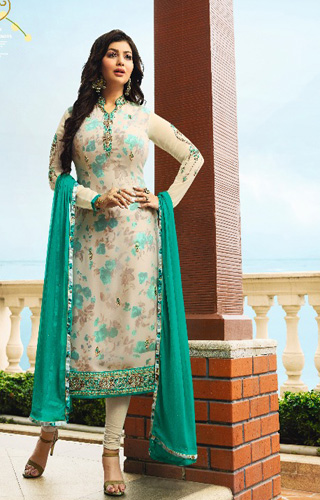 Fiona Ayesha georgette with heavy embroidery Salwar Suits 22054