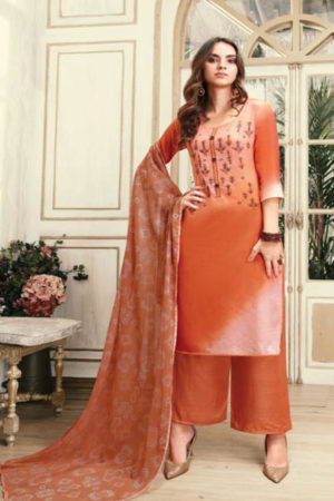 Fiona Noor down Jam Silk With Work and Handwork Suit 22112