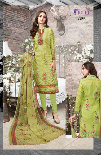 Fiona Ruhani Satin Georgette Digital Print Suit 22096