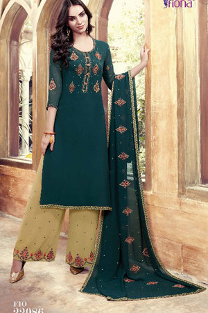 Fiona Suhana Sharma Faux georget with embroidery work Suit 22086