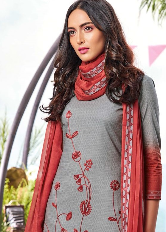 Ganga Autumn Superior Cotton Printed With Embroidery Suits 6326