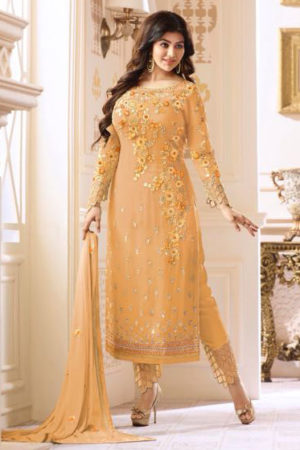 Glossy Heenaz Georgette With Heavy Embroidery Suit 18021
