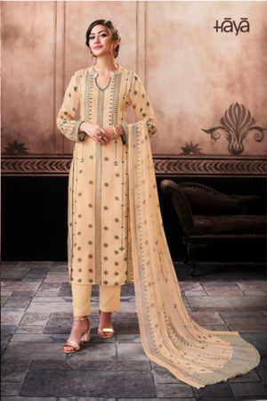 Haya Cultural Ethnic Pure Cotton Silk Digital Print With Hand Work Suit 6591