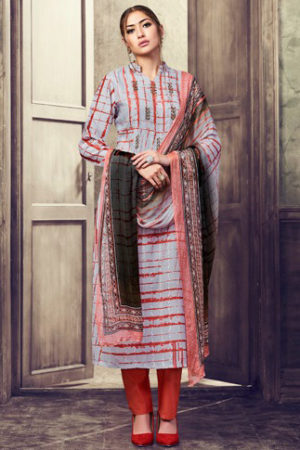 Haya The Winds Cotton With Embroidery Suits 6541