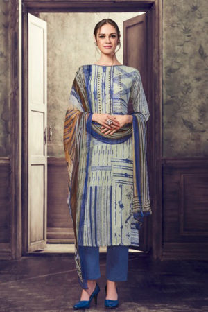 Haya The Winds Cotton With Embroidery Suit 6548