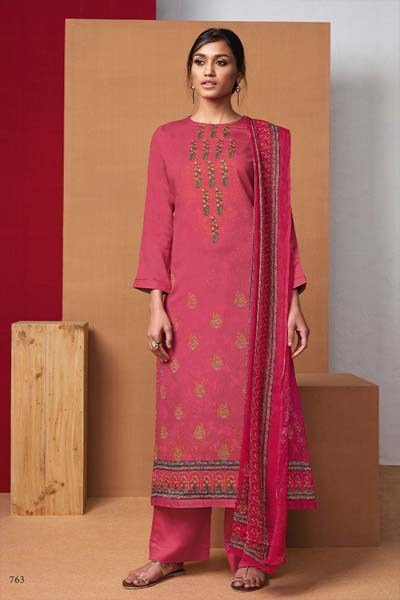 Itrana Marbela pure cotton satin digital print with embroidery suit 763