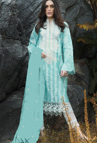 Juvi ZUNUJ NX Pure cotton Heavy Embrodairy salwar Suit 15006