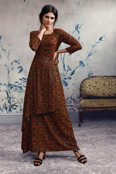 Omtex Mirabel Georgette With Embroidery Work Gown 93