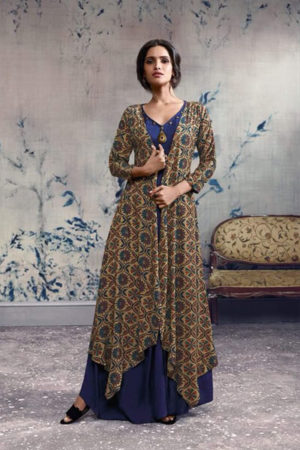 Omtex Mirabel Georgette With Embroidery Work Gown 92