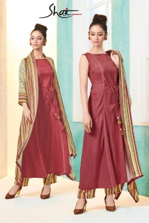 Shai posh 11 Kurti With Jacket and Plazzo 1666