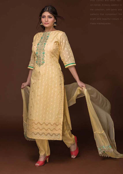 Tacfab Antaragini cotton jaq Embroidery Salwar Suit 2106
