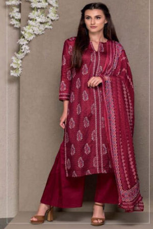 Tacfab Ruby Glace cotton printed Slawar Suits 1312A
