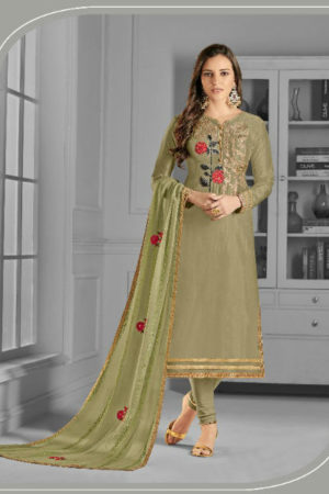 Angroop Plus Sajdaa Upada Silk With Embrodery Work Suit 2012