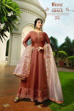 Ayesha Kali Organza Duppatta Satin Georgette With Work Suit 22171